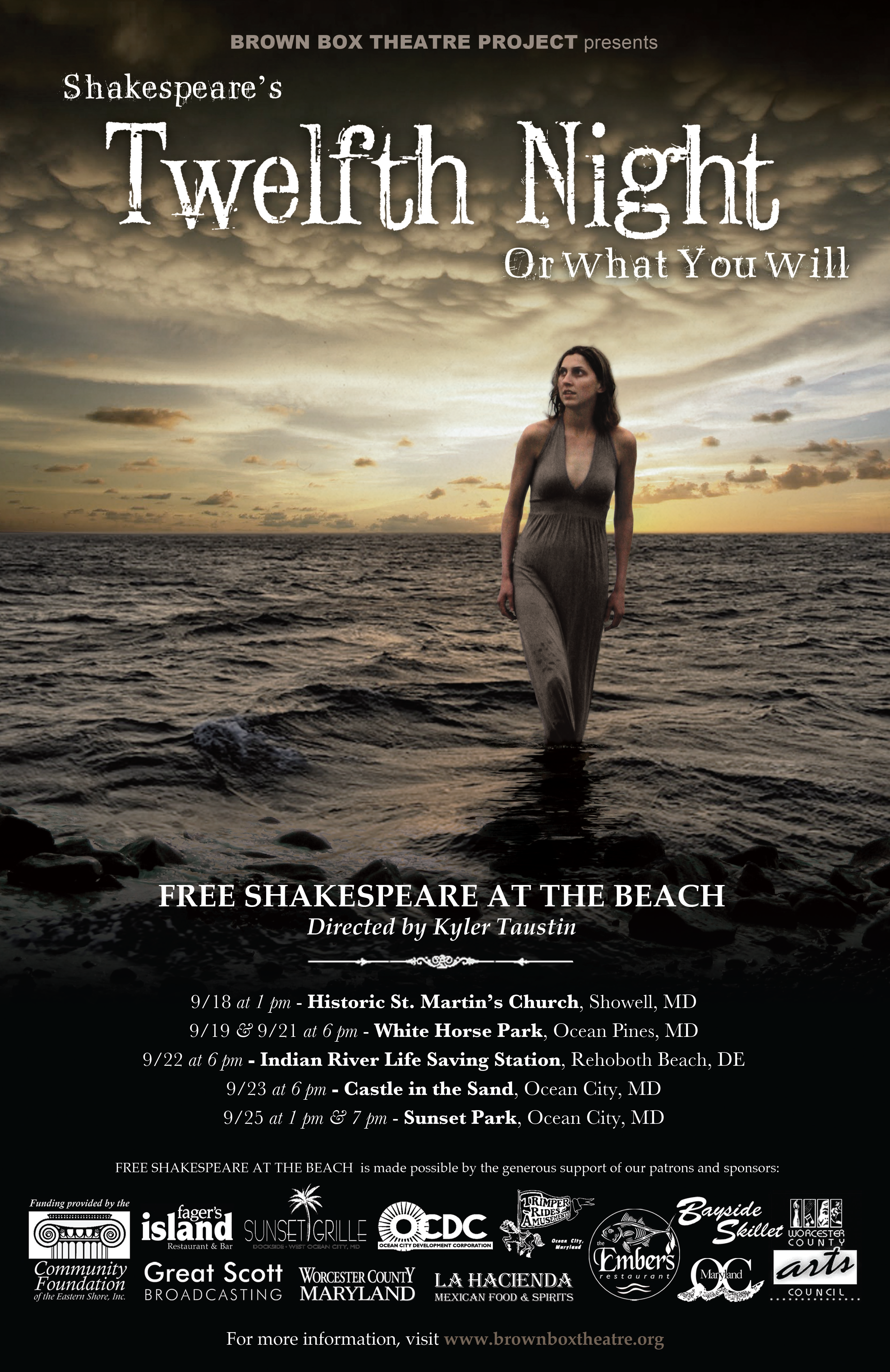poster for a twelfth night play