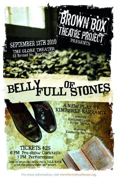 theater play poster for a Belly Full of Stones