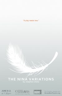 play poster with white feather