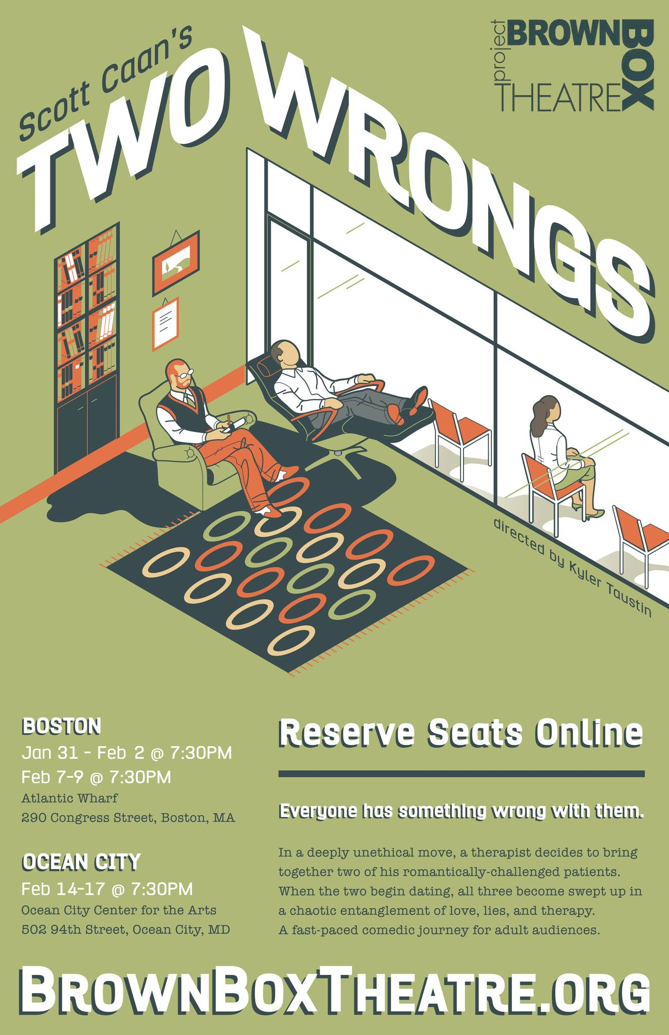green Poster for play two wrongs